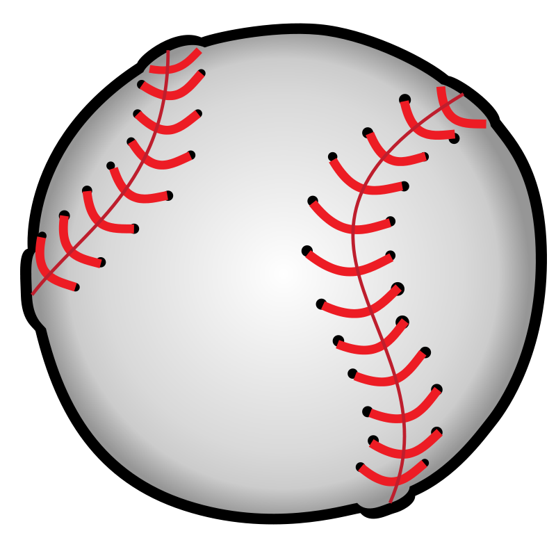 Half baseball half softball clipart black and white stock Baseball | Free Stock Photo | Illustration of a baseball | # 14541 black and white stock