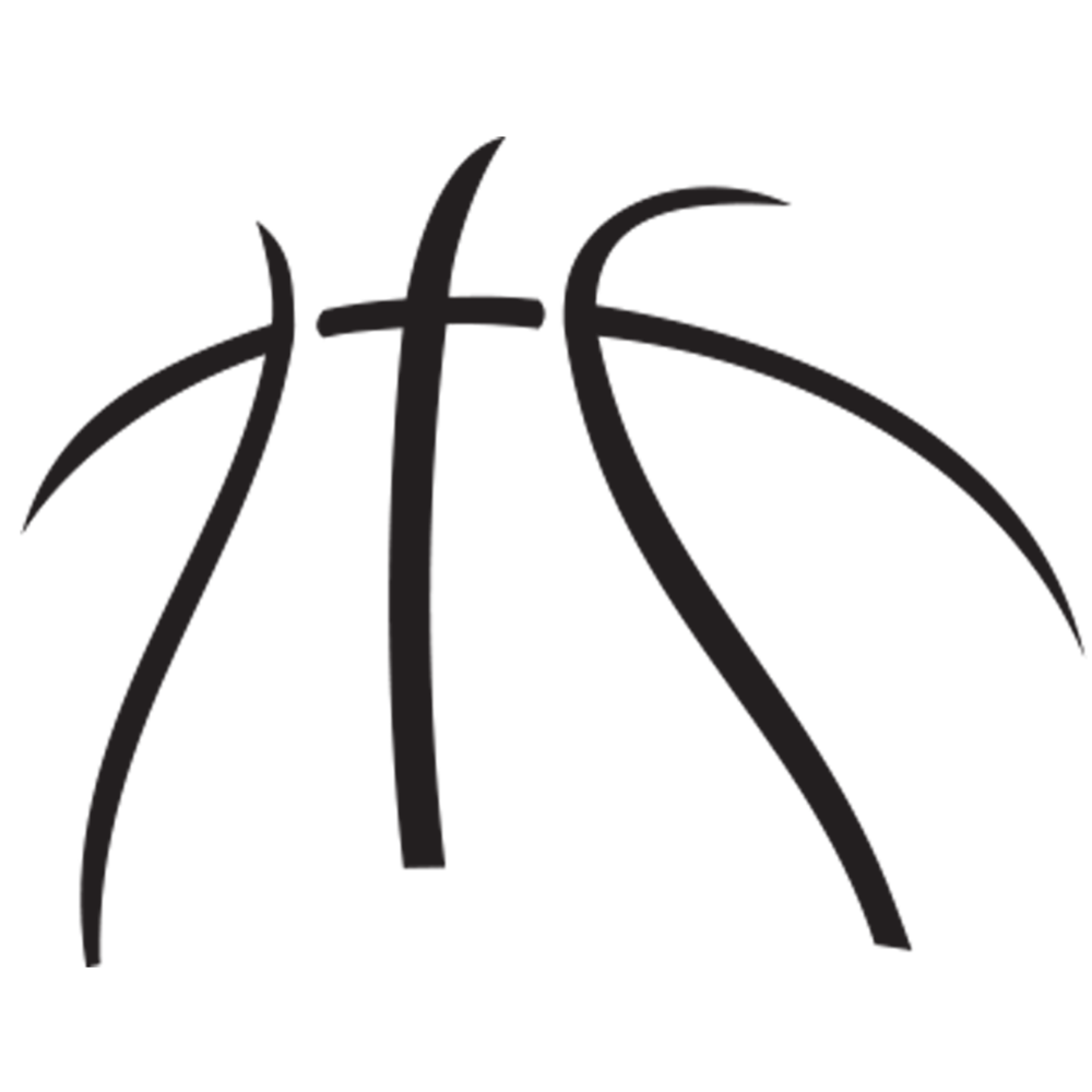 Heart shape basketball clipart black and white vector royalty free library About Us — News Release Basketball | Cameo silhouette | Pinterest ... vector royalty free library
