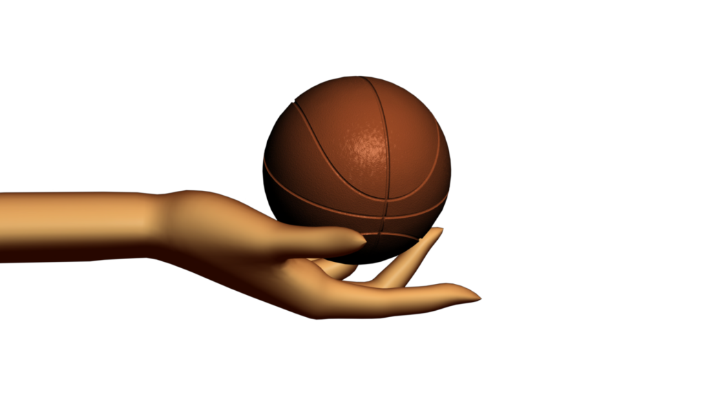 Abstract basketball clipart free library Sports Themed Video Clipart with Abstract Hand Holding Basketball ... free library