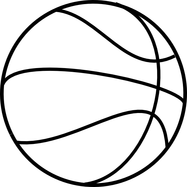 Free basketball and tennis ball clipart clipart black and white library PRINTABLE FREE BASKETBALL | basketball coloring pages 3 basketball ... clipart black and white library