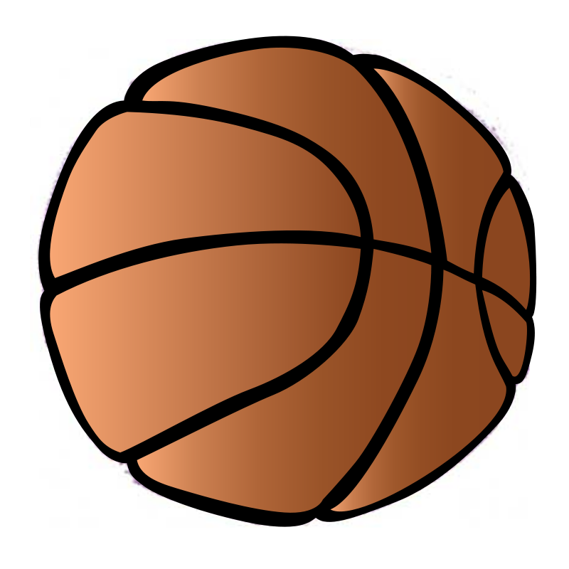 Free stock photo illustration. Basketball ball over court clipart