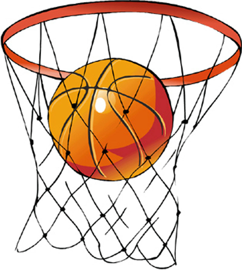 Abstract basketball hoop clipart clipart black and white Download Free png Basketball hoop clipart free - DLPNG.com clipart black and white