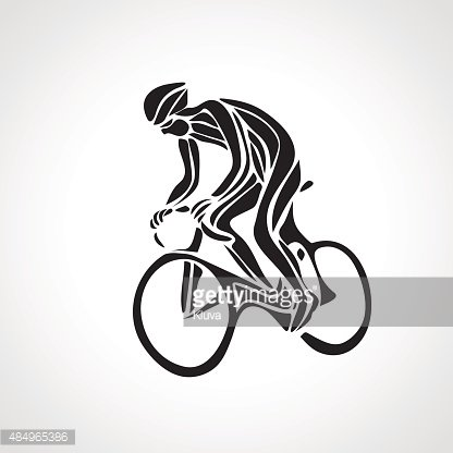 Abstract Silhouette of Black Bike Cyclist Logo premium clipart ... jpg freeuse download