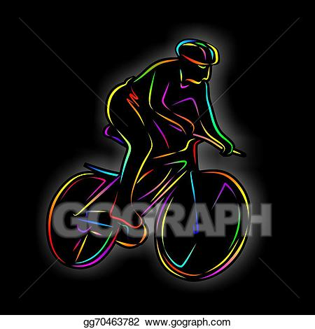Abstract bike clipart png freeuse library Stock Illustration - Mountain bike. Clipart gg70463782 - GoGraph png freeuse library