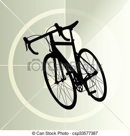 Abstract bike clipart jpg freeuse download Race road bike bicycle icon banner vector abstract illustration jpg freeuse download