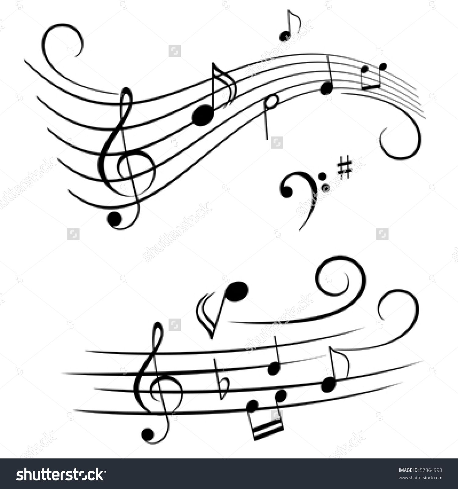 Violinn music note clipart vector download Image result for clipart free music staff abstract | Tangles ... vector download