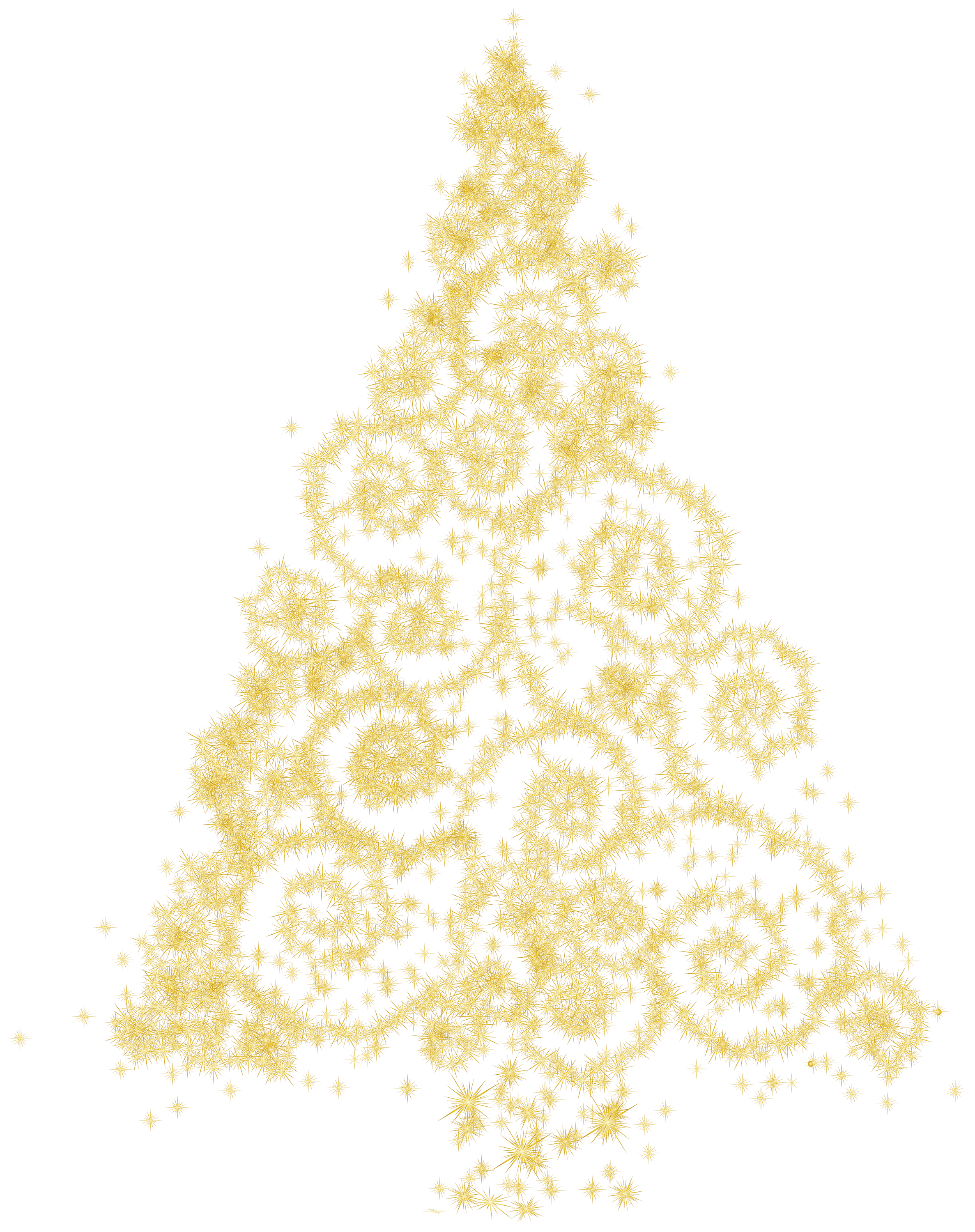 Abstract christmas ornament clipart graphic black and white library Gold Christmas Tree PNG Clip Art - Best WEB Clipart graphic black and white library