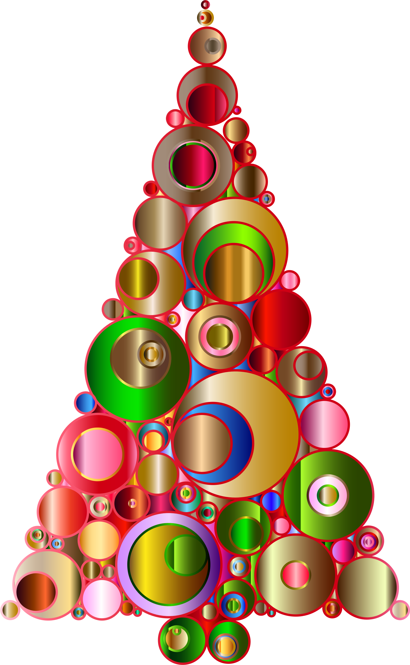 Abstract christmas tree clipart image black and white Clipart - Colorful Abstract Circles Christmas Tree 2 image black and white
