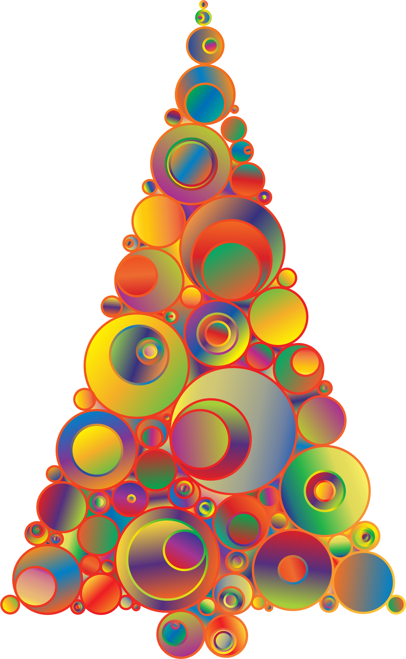 Abstract christmas tree clipart png free stock Clipart - Colorful Abstract Circles Christmas Tree 5 png free stock