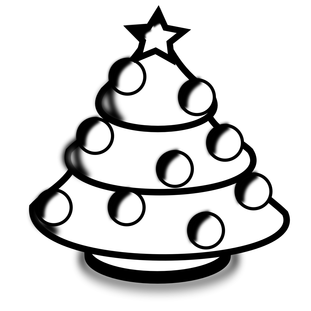 Clipart black and white christmas tree graphic black and white library baby nursery ~ Fascinating Christmas Tree Black And White Outline ... graphic black and white library