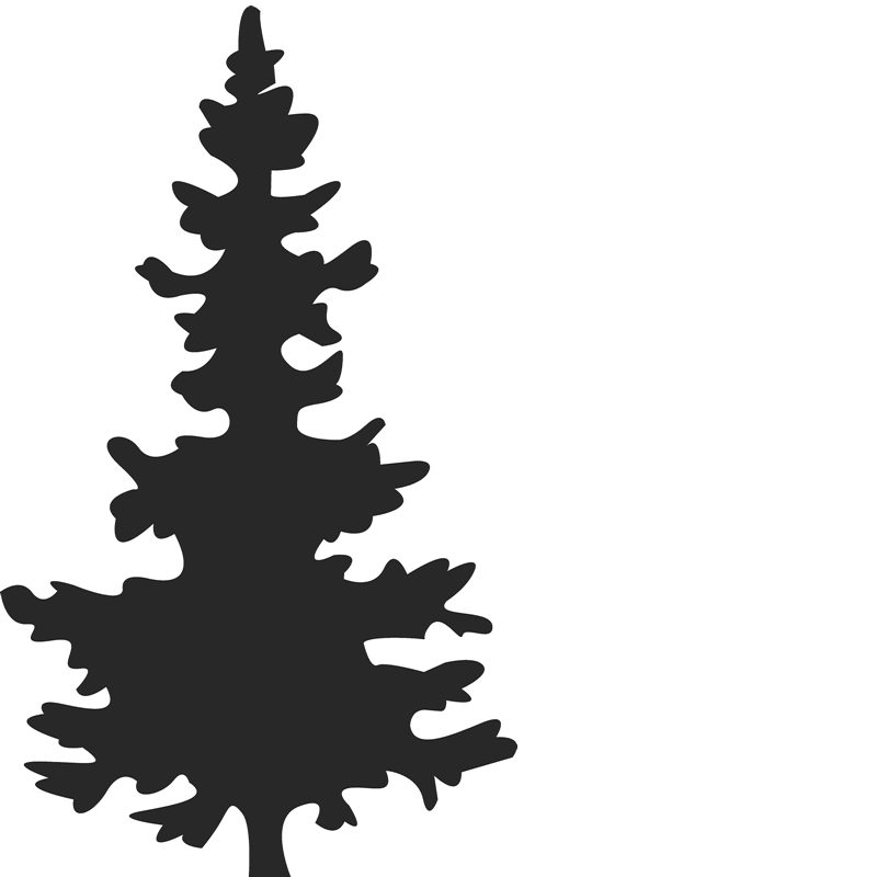Abstract christmas tree clipart black and white banner free stock Christmas Tree Silhouette at GetDrawings.com | Free for personal use ... banner free stock