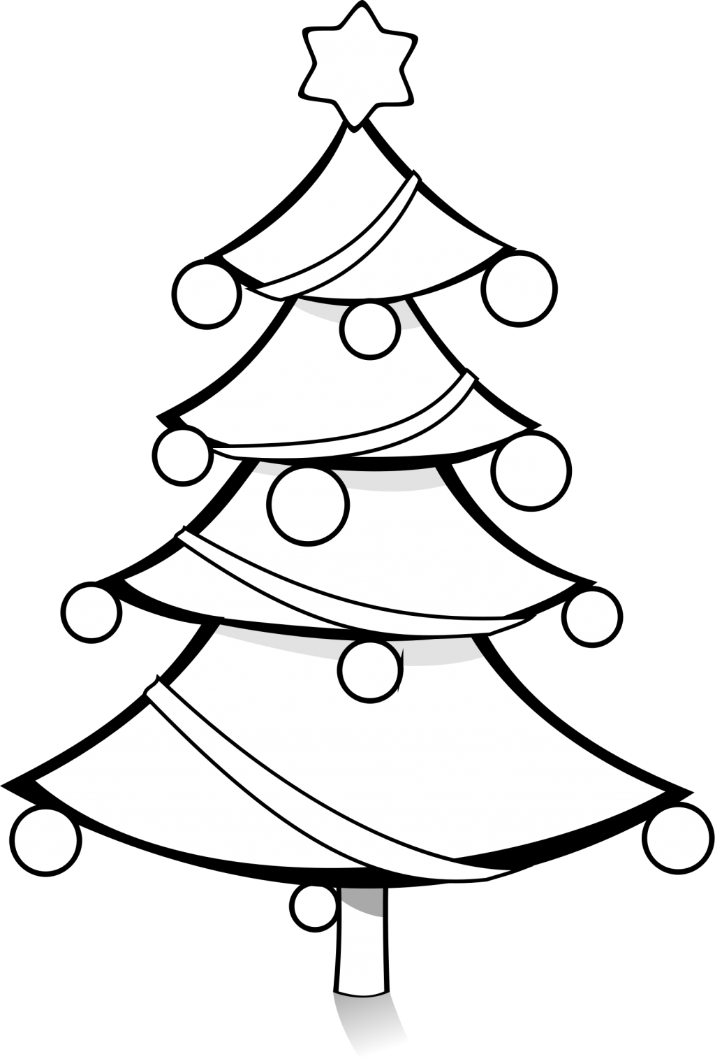 Christmas tree black clipart png download baby nursery ~ Picturesque Black And White Christmas Tree Clipart ... png download