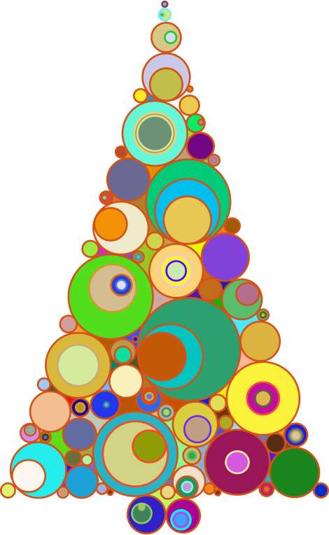 Abstract christmas tree clipart png jpg free Clipart - Colorful Abstract Circles Christmas Tree jpg free