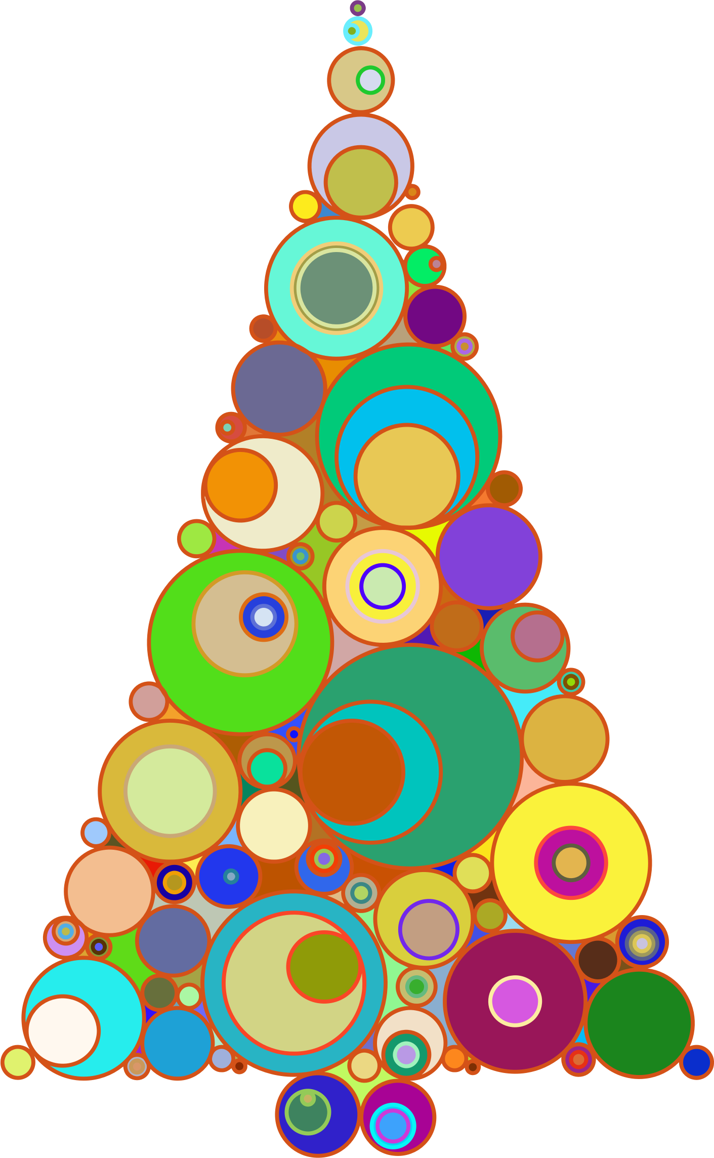 Abstract christmas tree clipart graphic free library Clipart - Colorful Abstract Circles Christmas Tree graphic free library