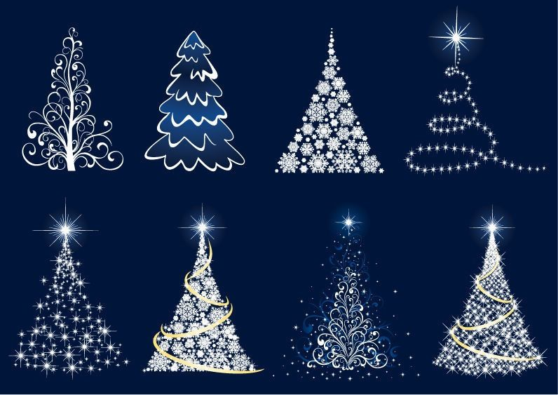 Abstract christmas tree images clipart picture library library Free Christmas Clip Art   Abstract Christmas Tree Vector Set   Free ... picture library library