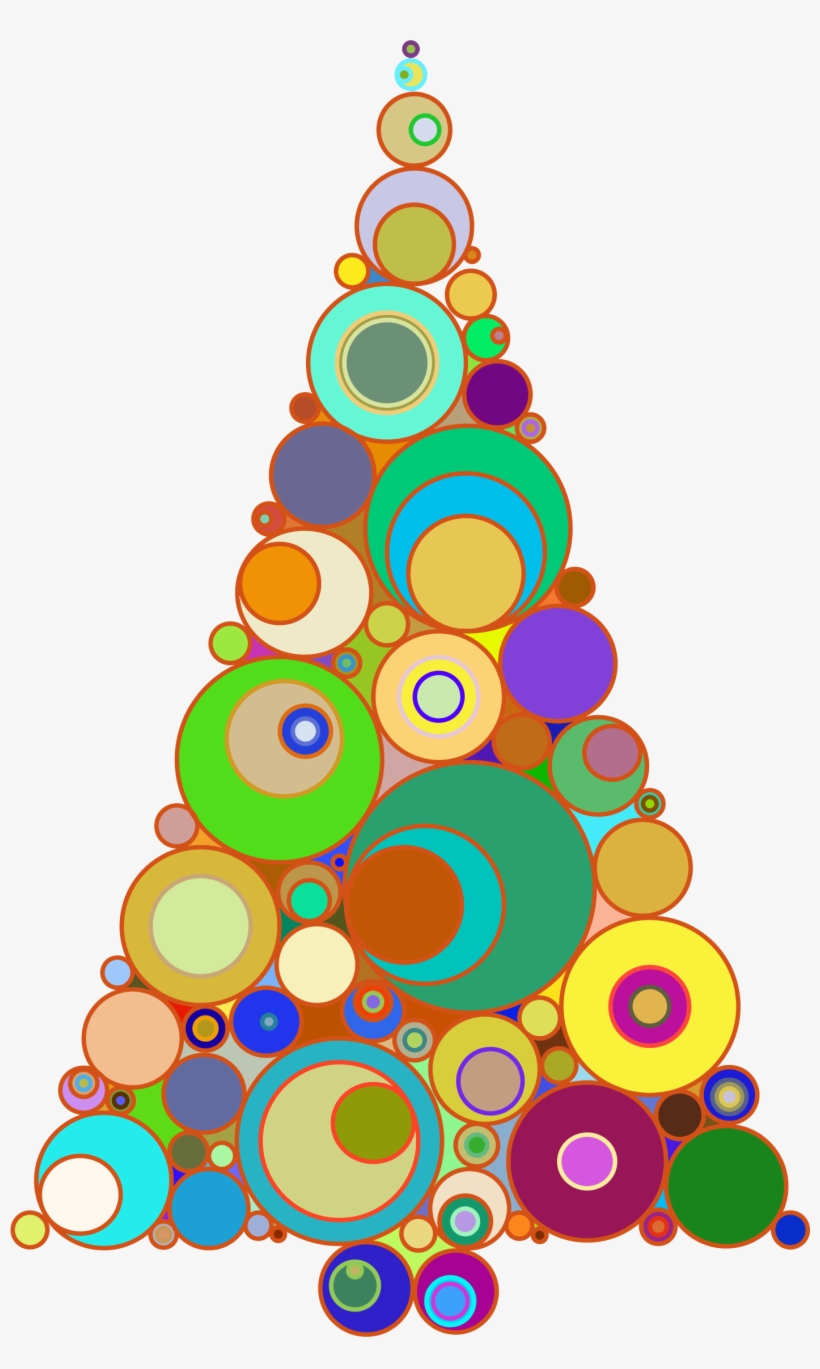Abstract christmas tree images clipart image Colorful Abstract Circles Christmas Tree - Abstract Christmas Tree ... image