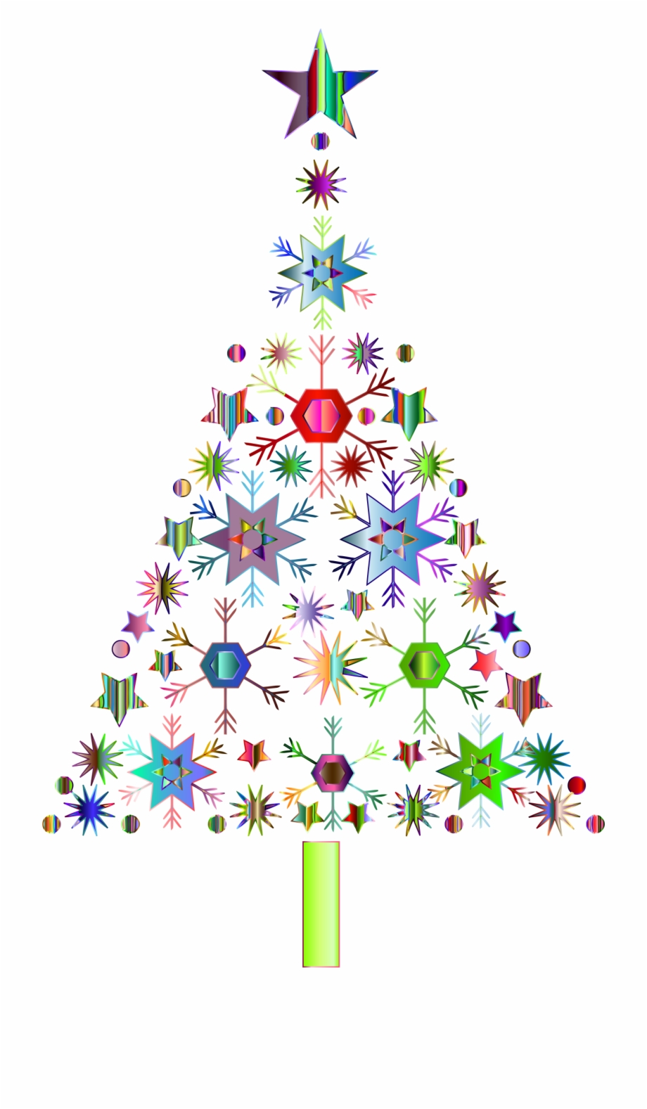 Abstract christmas tree images clipart png free download Abstract Snowflake Christmas Tree By Karen Arnold Prismatic ... png free download