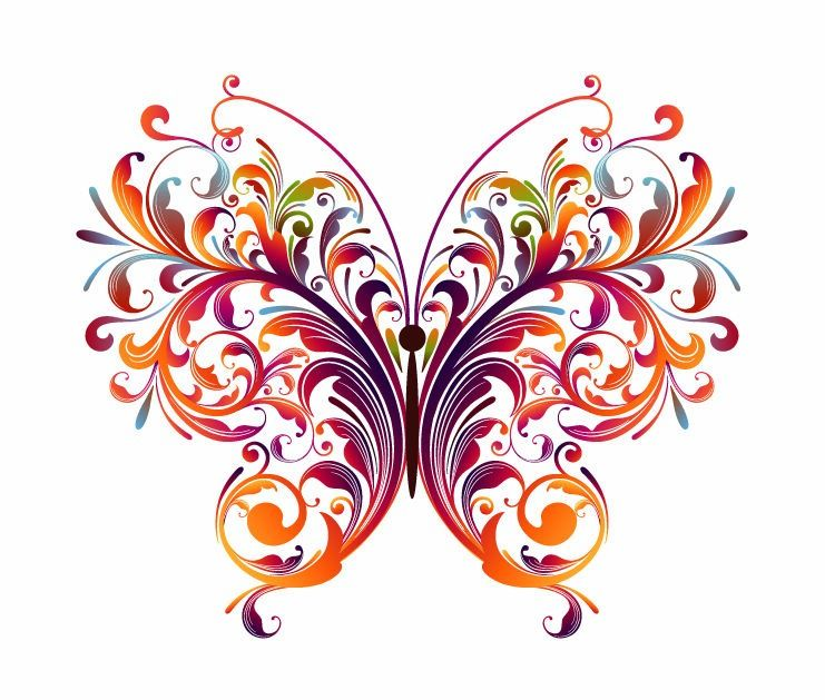 Abstract Designs To Draw | Abstract Floral Butterfly Vector Graphic ... image royalty free stock