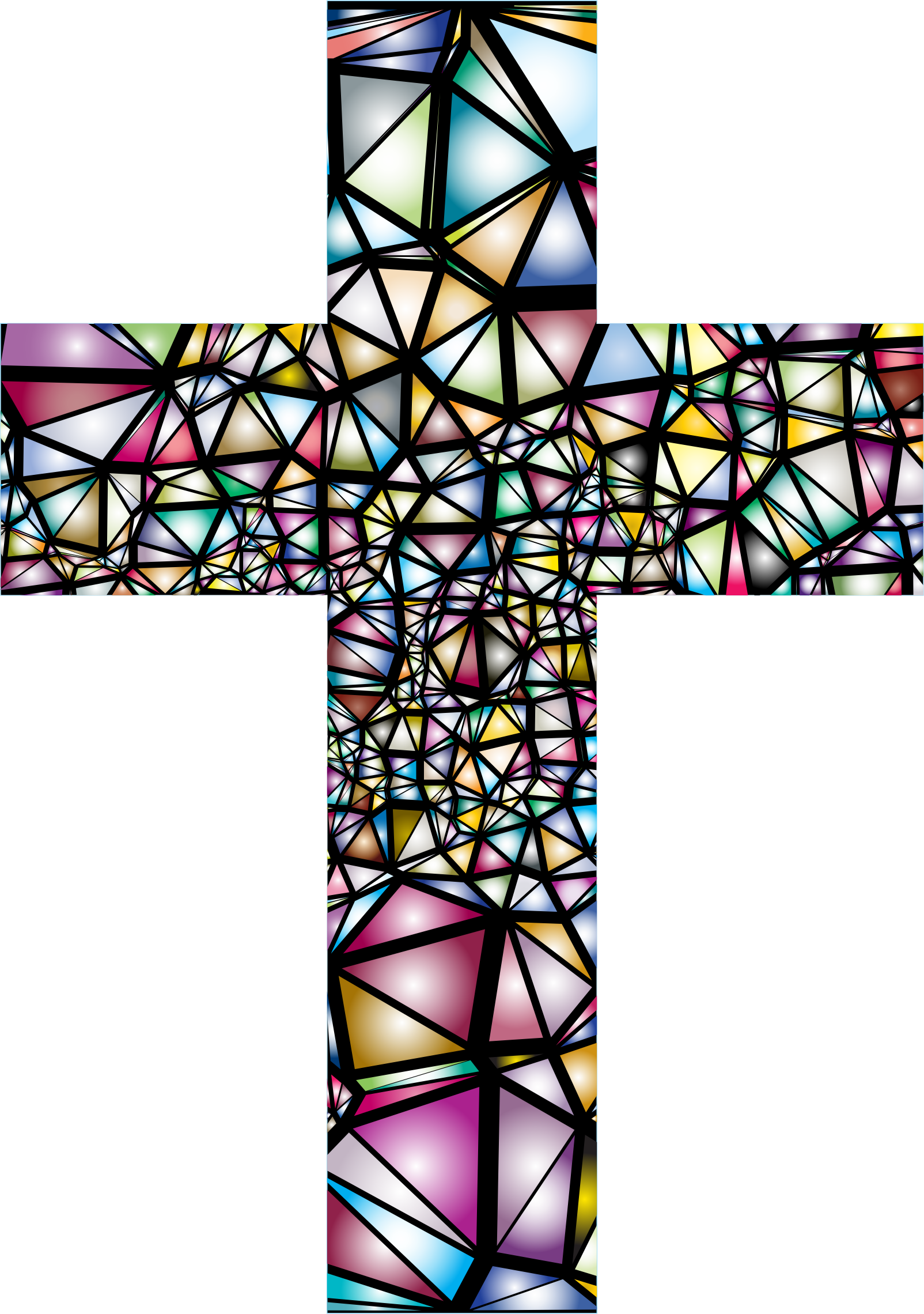 Clipart jesus on a cross clip free library Clipart - Low Poly Stained Glass Cross 2 clip free library