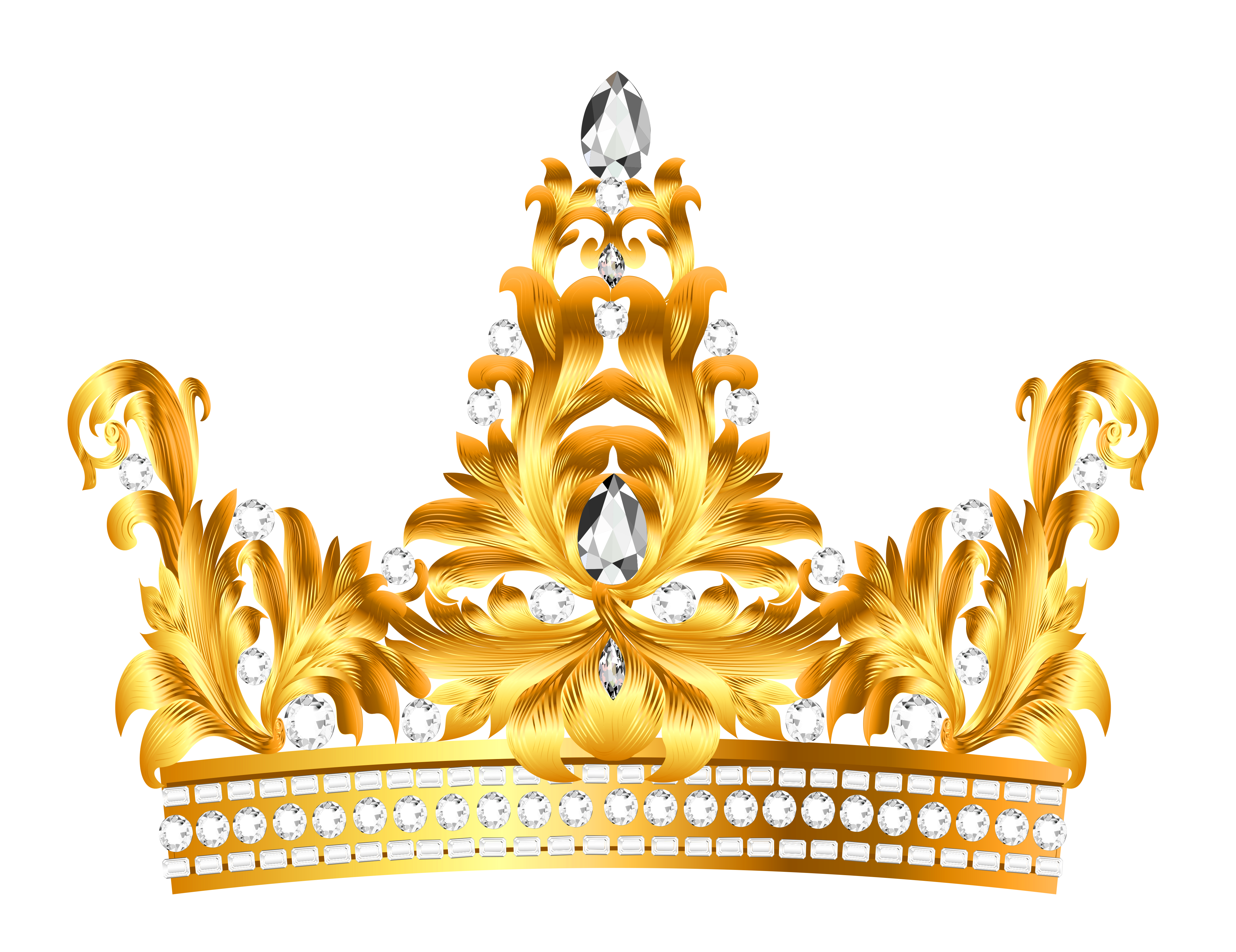 Gold bling crown clipart svg royalty free library Gold and Diamonds Crown PNG Clipart | Clip art | Pinterest | Crown ... svg royalty free library