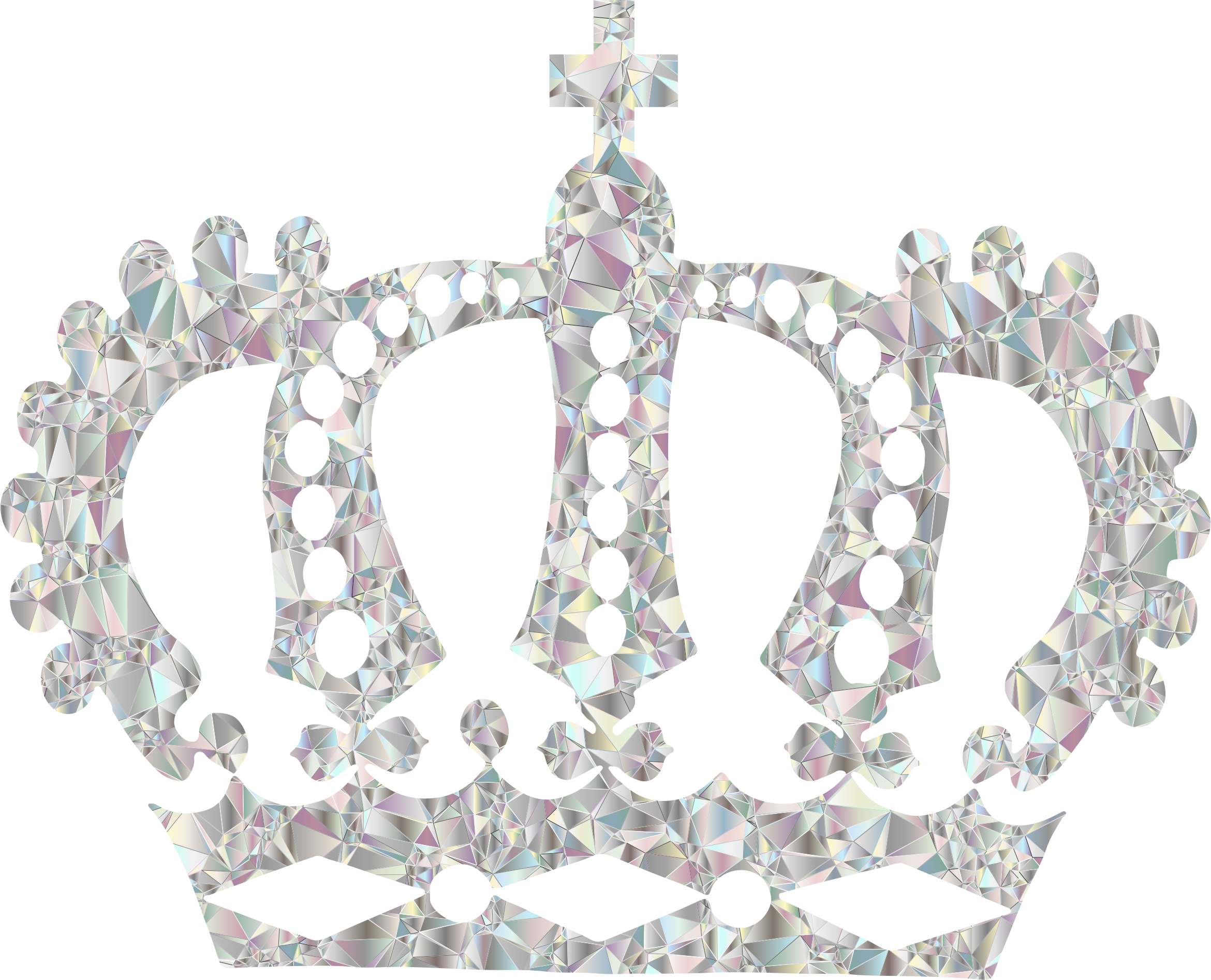 Black royal crown clipart banner black and white Clipart - Crystal Royal Crown No Background banner black and white