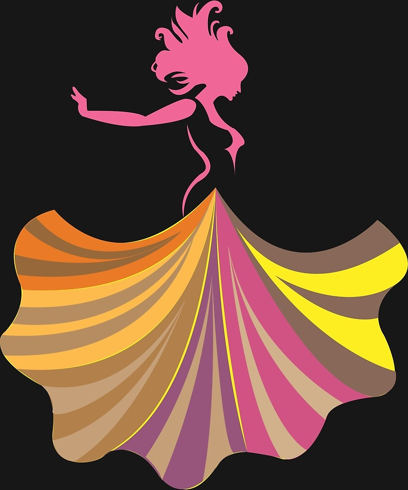 Abstract dancer clipart svg freeuse download Pink Dancer Abstract Dance Art Flowing Dress Dancing\
