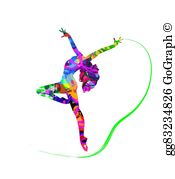 Abstract dancer clipart free vector freeuse Abstract Dancer Clip Art - Royalty Free - GoGraph vector freeuse