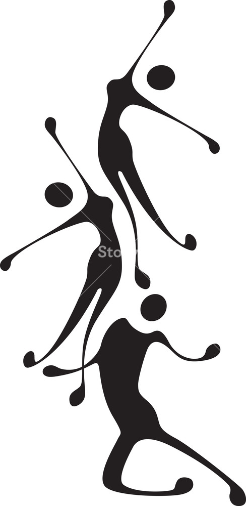 Abstract dancer clipart free vector transparent library Abstract Dancing Figures Royalty-Free Stock Image - Storyblocks Images vector transparent library