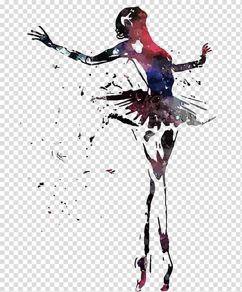 Abstract dancer clipart stock Abstract painting of ballerina, Dancer Ballet , broken dancers ... stock
