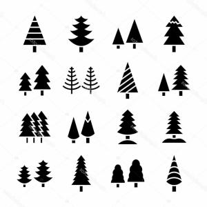 Pine Forest Seamless Background Pattern Abstract Tree W Black Gray ... png royalty free download