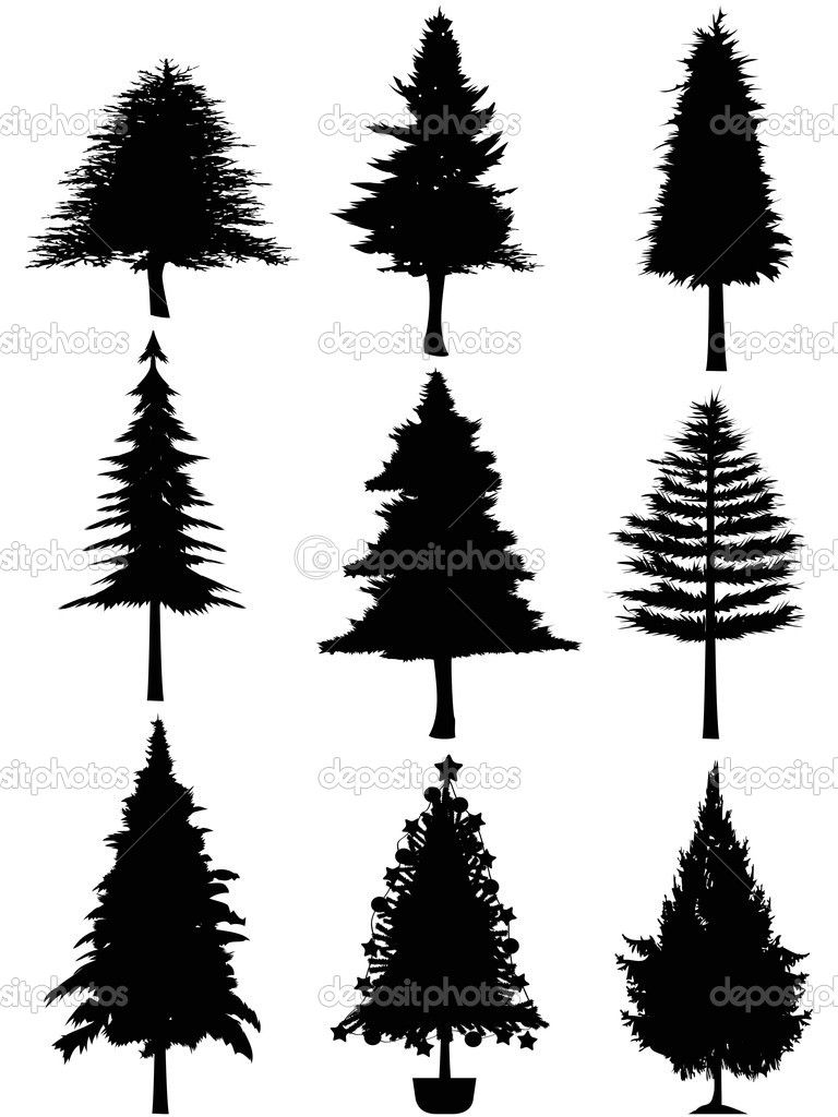 Pin by Monika Walker on PM | Tree silhouette, Christmas tree ... graphic library stock