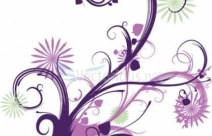 Abstract floral clipart jpg Cute Flower Vector Clip Art- Abstract Flowers – flower abstract clipart jpg