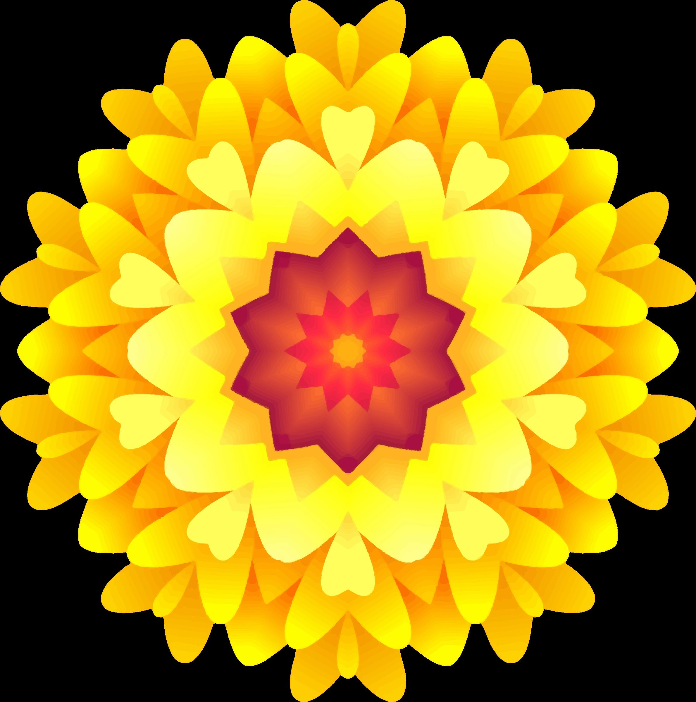 Marigold flower clipart clip art transparent Clipart - Abstract flower 7 clip art transparent