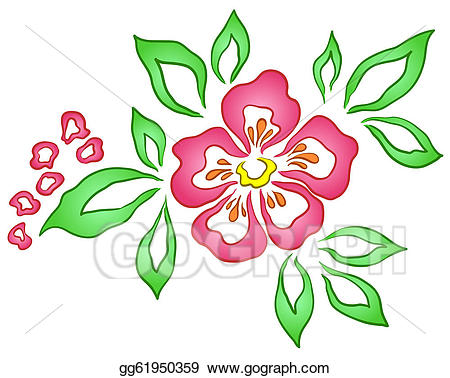 Stock Illustration - Abstract flower. Clipart Illustrations ... svg royalty free stock