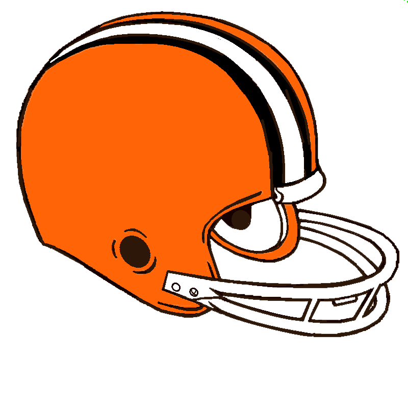 Football helmet clipart abstract. Cleveland browns at getdrawings