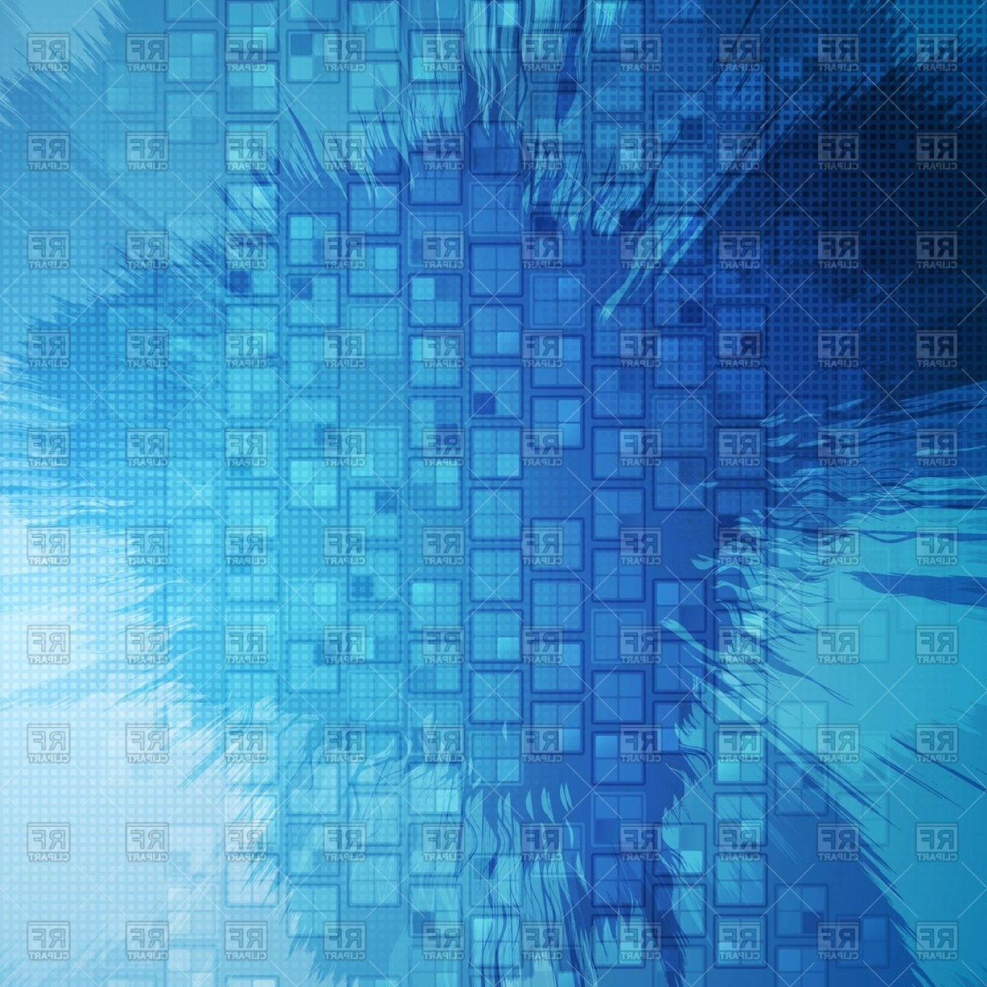 Abstract Blue Grunge Tech Squares Background Vector Clipart | CQRecords clip art free