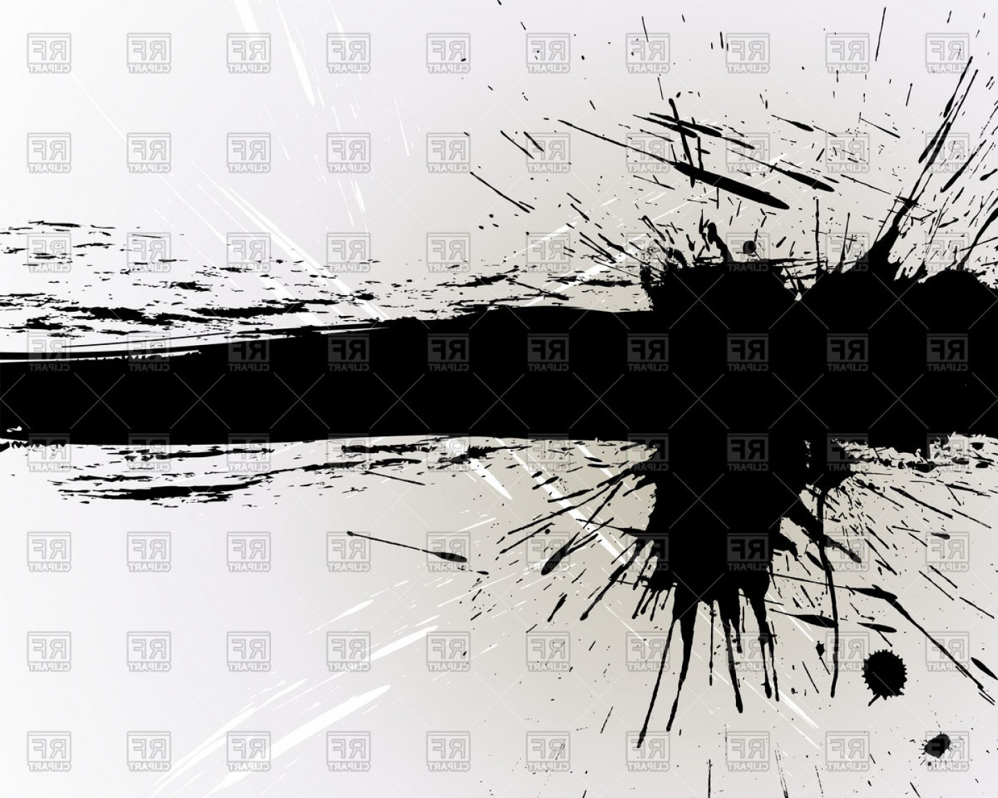 Abstract Grunge Black Banner Vector Clipart | SOIDERGI royalty free download