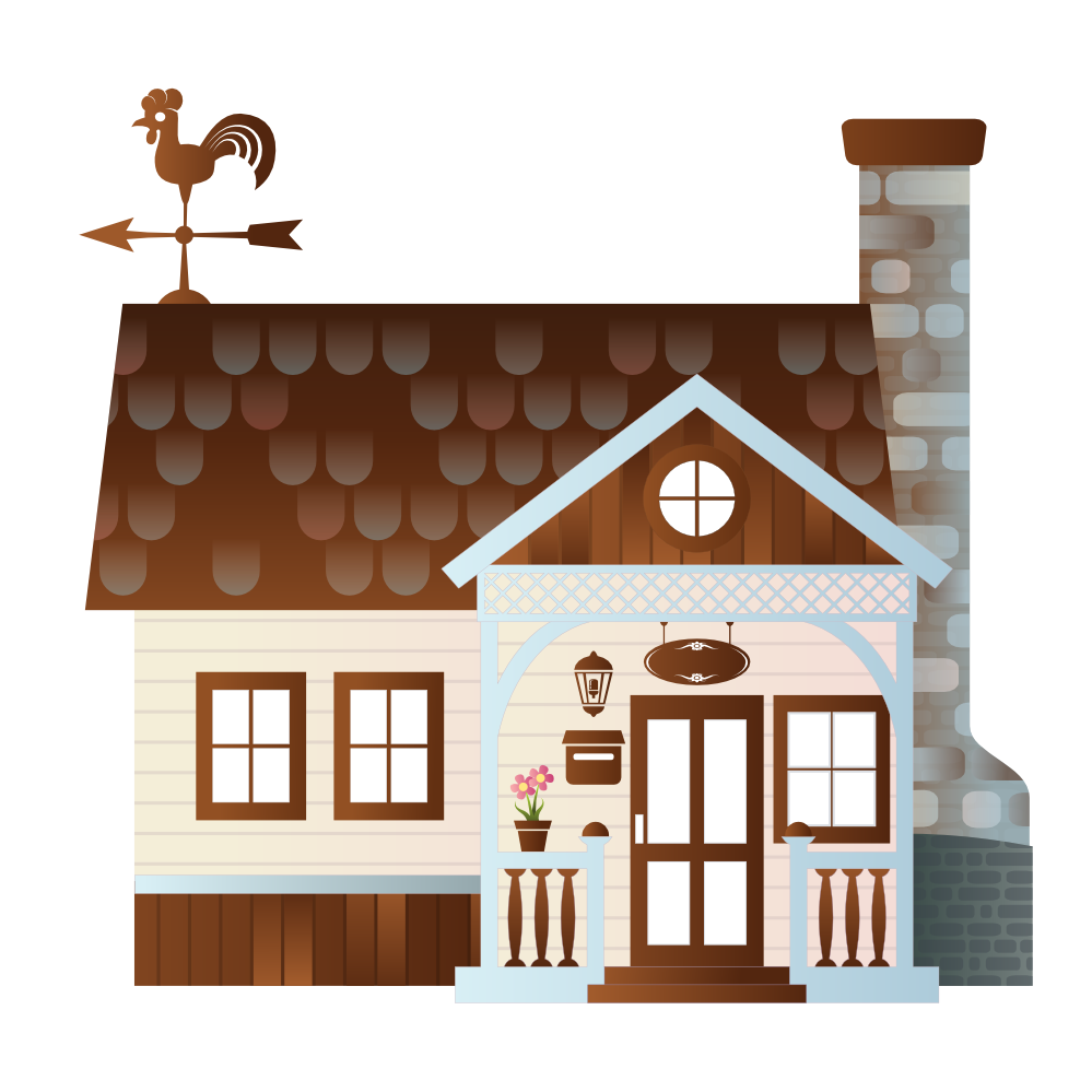House with fence clipart svg library Clipart Of A Farm House - gucciguanfangwang.me svg library