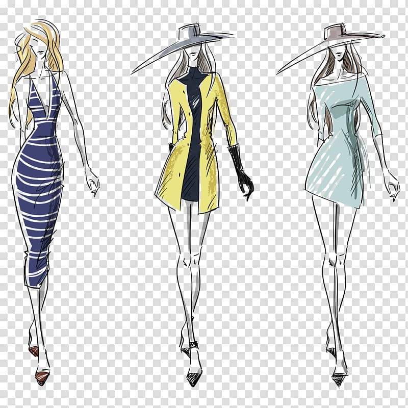 Women sketch, Fashion illustration Illustration, Fashion Model ... svg download