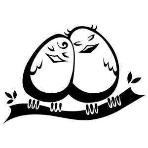 Abstract love bird clipart png transparent download Snuggling Love Birds clipart, cliparts of Snuggling Love Birds free ... png transparent download