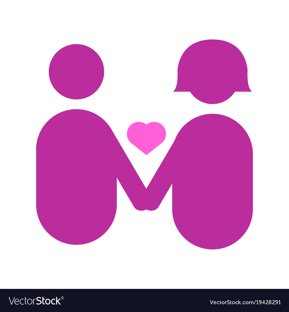 Couple holding hands abstract love graphic Vector Image vector transparent download