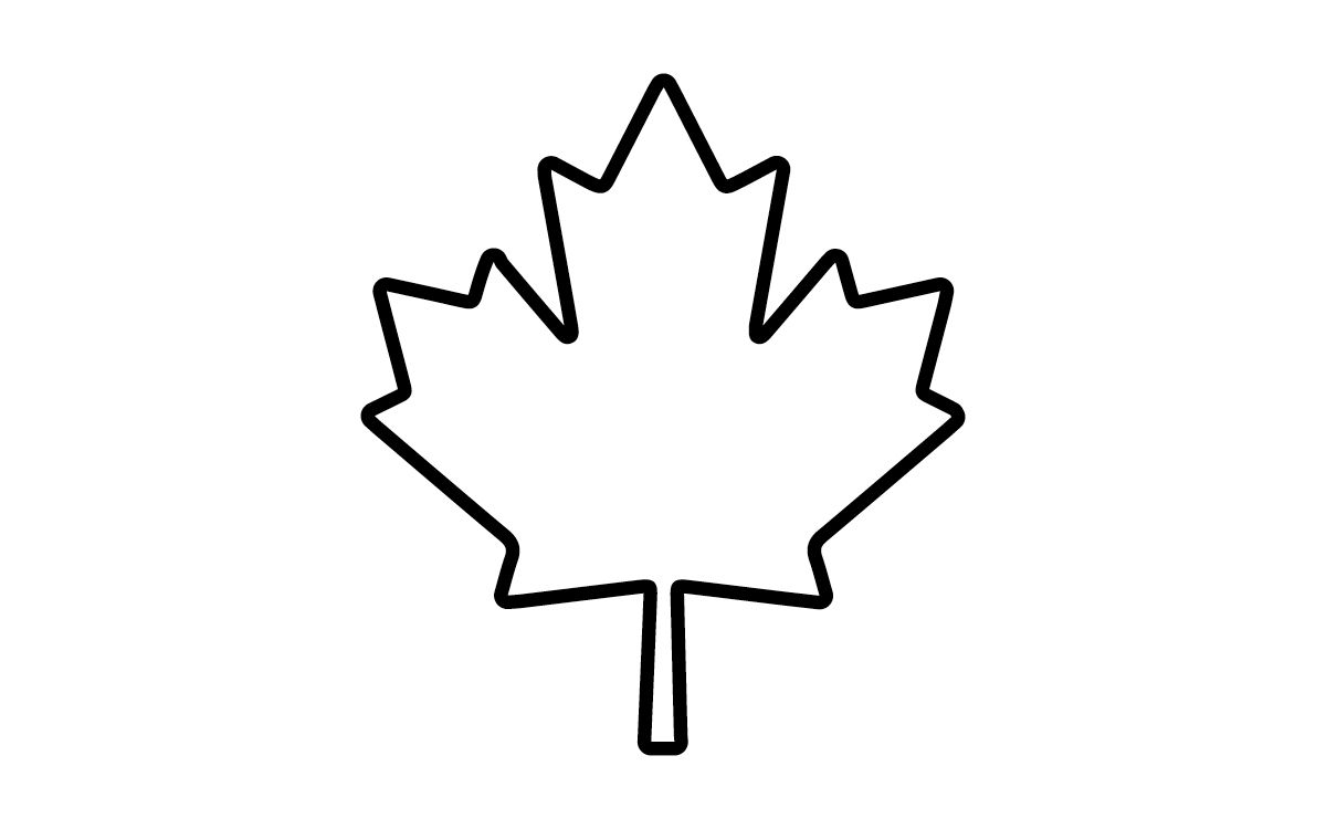 Abstract maple leaf clipart coloring black and white svg black and white library Canadian Maple Leaf Coloring Page | Mewarnai - ClipArt Best ... svg black and white library