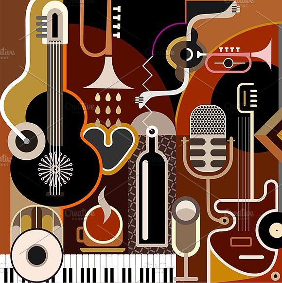 Abstract musical instrument clipart ideas png library stock Abstract Music Background | Instrument Design in 2019 | Music ... png library stock