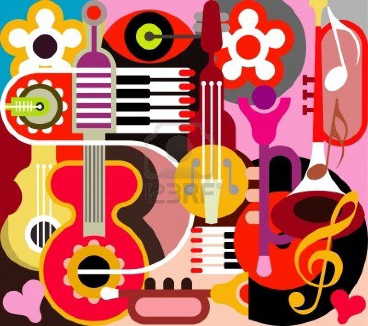 Abstract musical instrument clipart ideas clip art stock pianosoftware Abstract Musical Instruments | Abstract Musical ... clip art stock