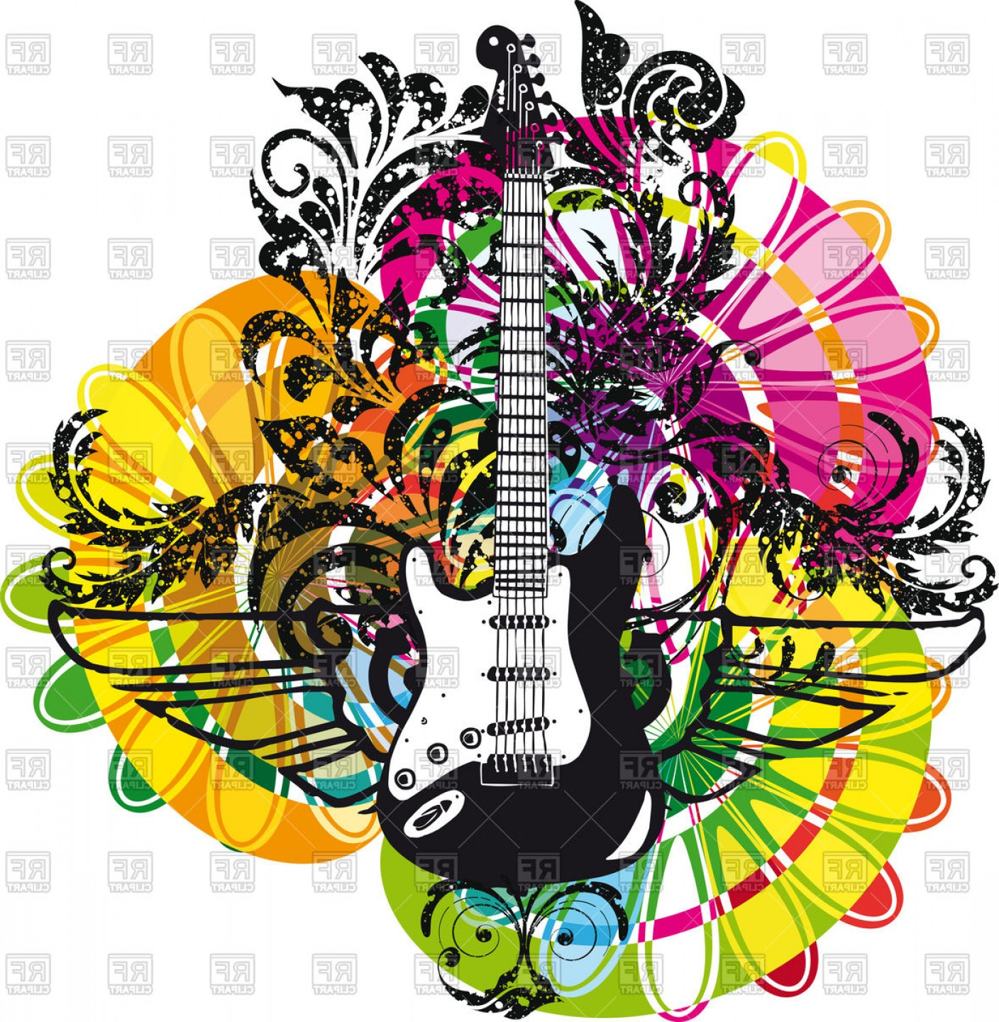 Abstract musical instrument clipart ideas clipart freeuse stock Vectors Graphics Art Guitars   SOIDERGI clipart freeuse stock
