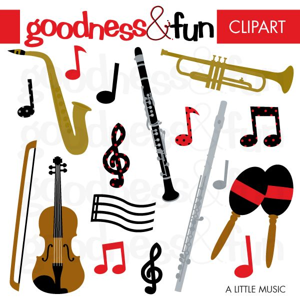 Abstract musical instrument clipart ideas vector freeuse library Musical Instruments Clipart Black And White | Free download best ... vector freeuse library