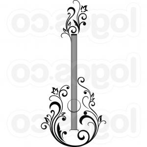 Abstract musical instrument clipart ideas image free download Classic Guitar Abstract Illustration Vector Graphic Gm | SOIDERGI image free download
