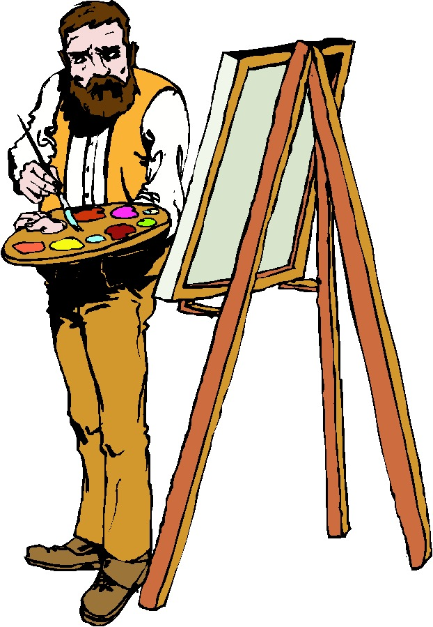 Free Picture Of An Artist Painting, Download Free Clip Art, Free ... image library library