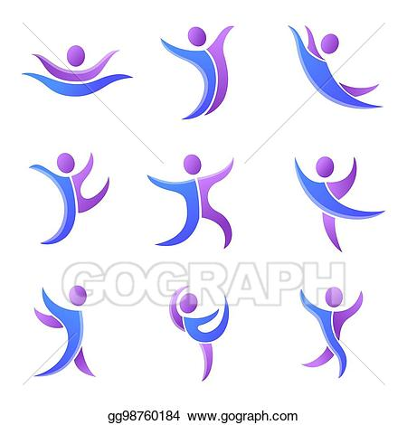 Abstract people clipart silhouette graphic download Vector Illustration - Silhouette abstract people performance ... graphic download
