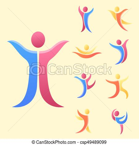 Abstract people clipart silhouette clipart Silhouette abstract people performance character logo human figure pose  vector illustration. clipart
